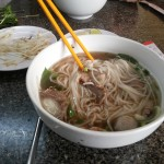 Eating pho in Saigon