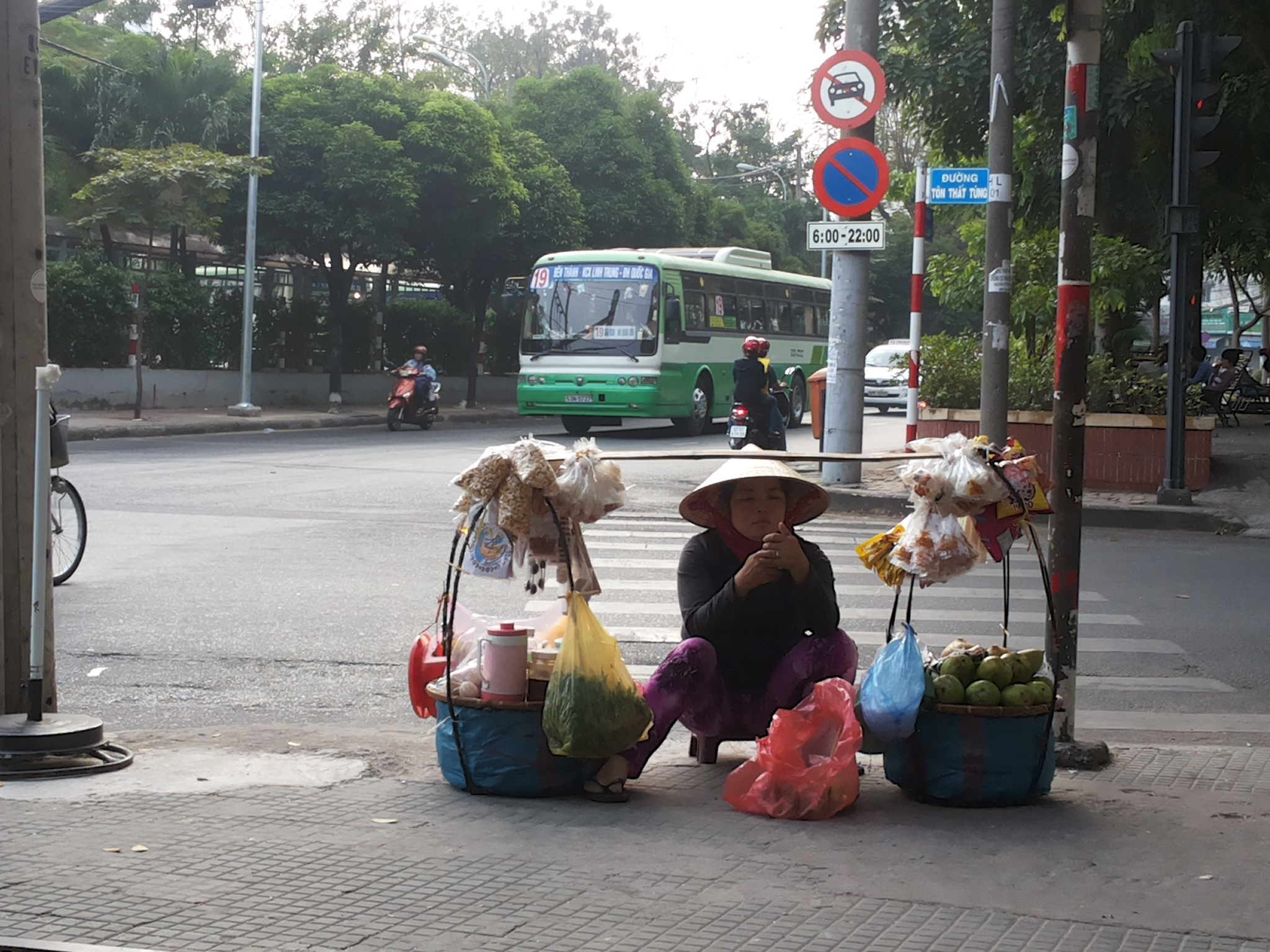 Street Seller in Ho Chi Minh City