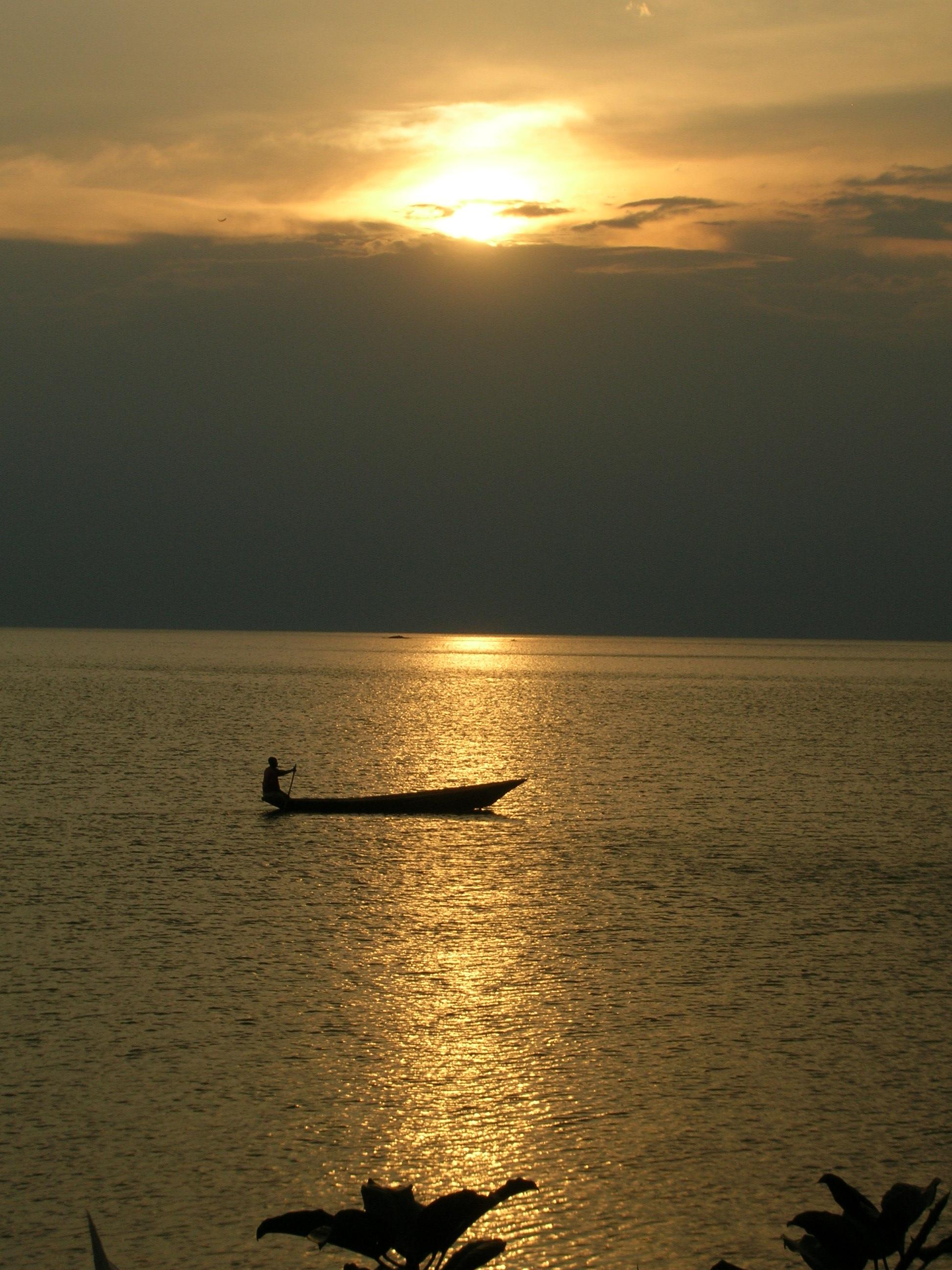 Sunset on Lake Kivu